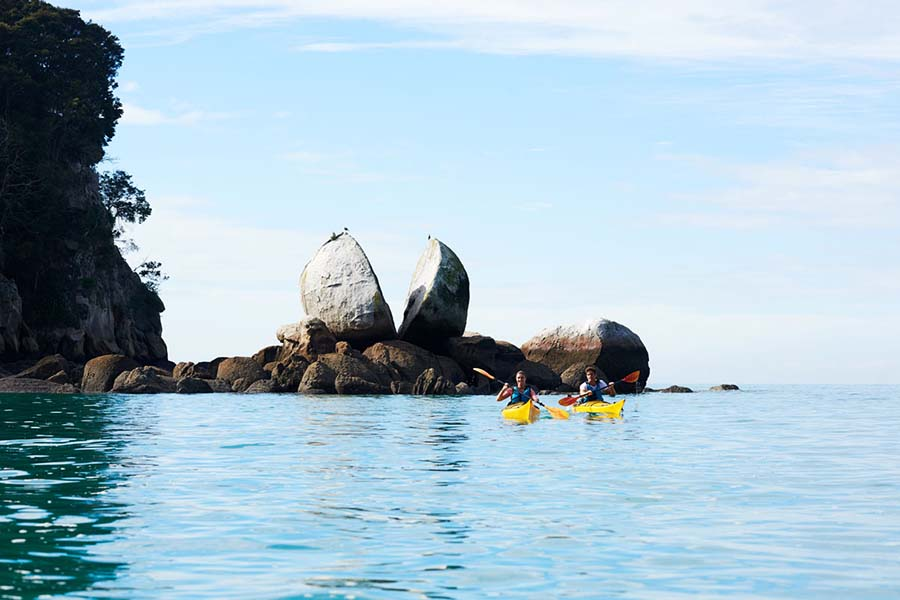 Sea Kayaking Abel Tasman New Zealand adventure tours