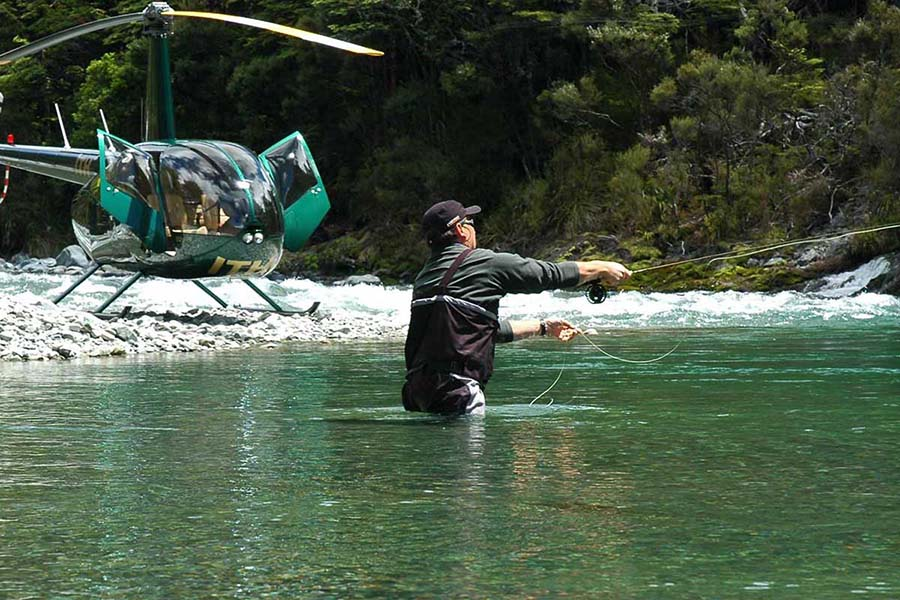 Heli Fishing Rotorua New Zealand