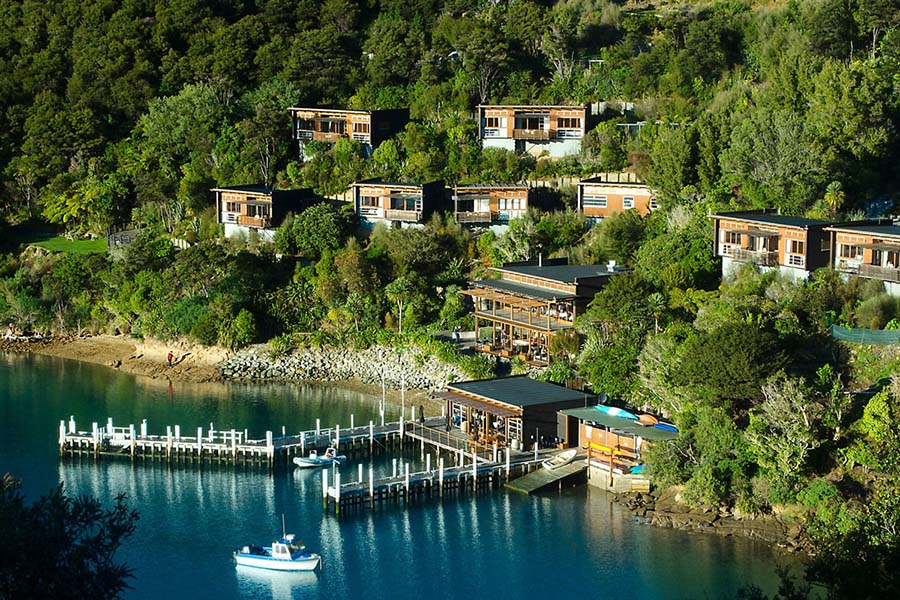 Bay of Many Coves Resort Marlborough luxury accommodation New Zealand