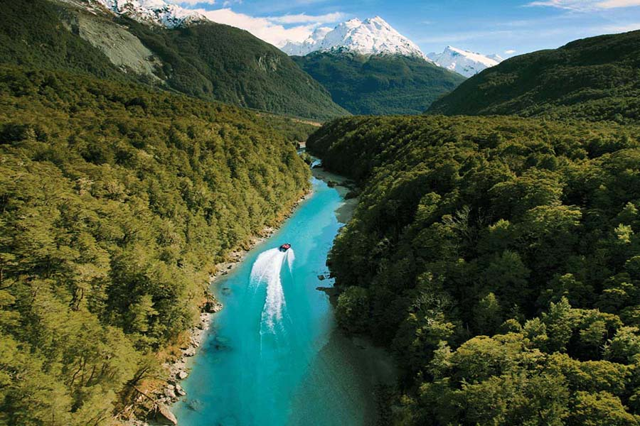 Dart River jet boat Queenstown New Zealand adventure tours