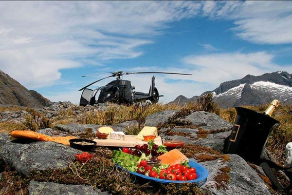 Queenstown helicopter paradise picnic New Zealand luxury holidays