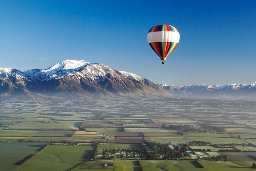 ballooning canterbury hot air balloon Christchurch New Zealand