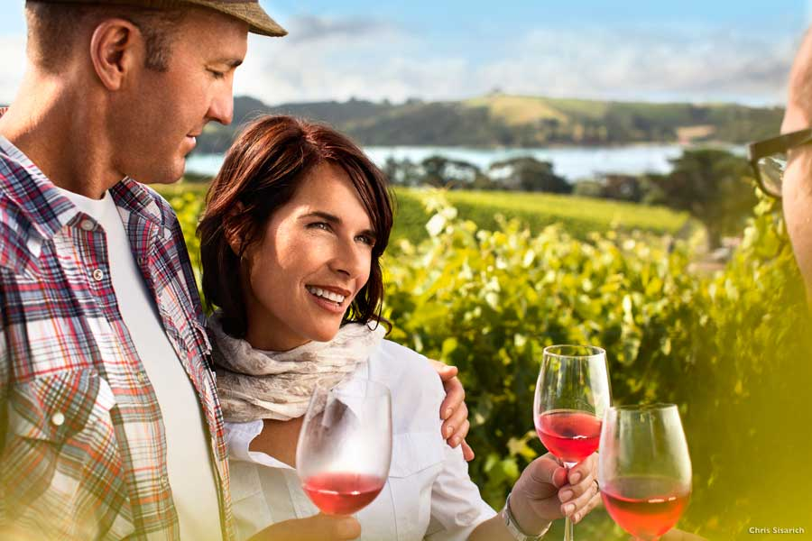 Waiheke Island vineyards wine tours New Zealand