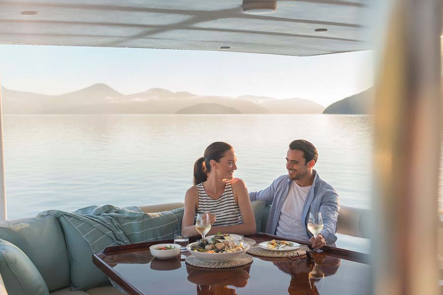 Queen Charlotte Sound Marlborough dining cruise